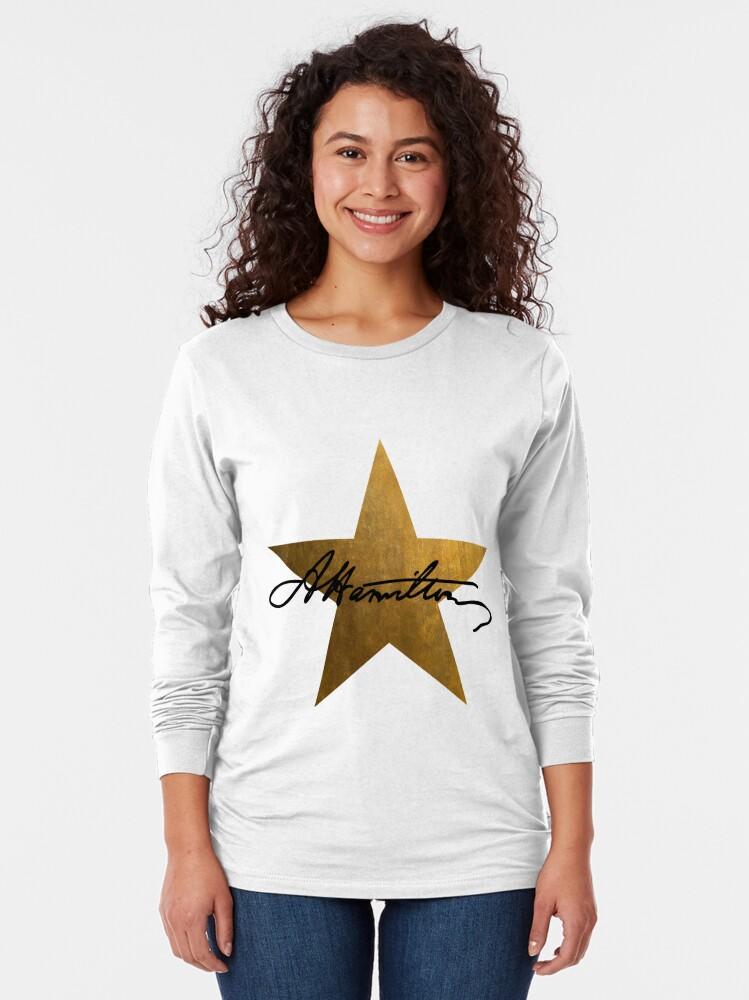 Alternate view of Hamilton Star  Long Sleeve T-Shirt