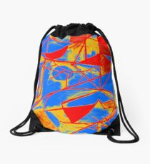 Abstract Primary Colors Drawstring Bag
