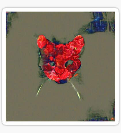 Ninja cat hiding in poppy #Art Sticker