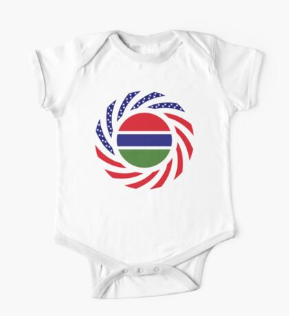 Gambian American Multinational Patriot Flag Series Kids Clothes
