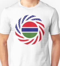Gambian American Multinational Patriot Flag Series Slim Fit T-Shirt