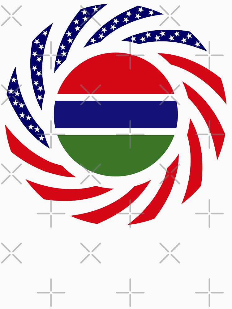 Gambian American Multinational Patriot Flag Series by carbonfibreme
