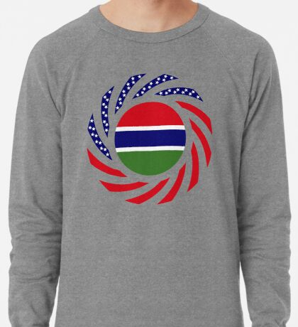 Gambian American Multinational Patriot Flag Series Lightweight Sweatshirt