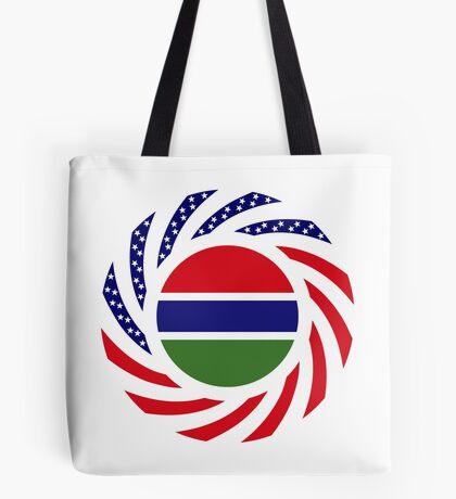 Gambian American Multinational Patriot Flag Series Tote Bag