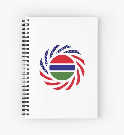 Gambian American Multinational Patriot Flag Series Spiral Notebook