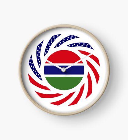 Gambian American Multinational Patriot Flag Series Clock