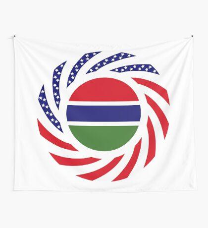 Gambian American Multinational Patriot Flag Series Wall Tapestry