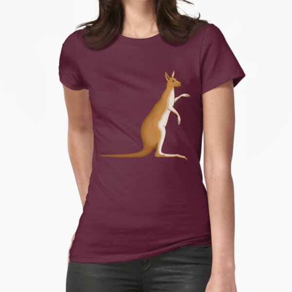 Kangaroo Cartoon Land Fitted T-Shirt