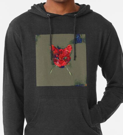 Ninja cat hiding in poppy #Art Lightweight Hoodie