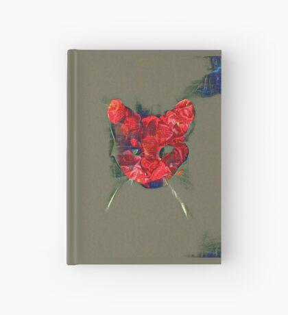 Ninja cat hiding in poppy #Art Hardcover Journal