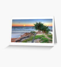 Super Moonrise at Coolum Greeting Card