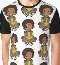 Happy chibi Hunk Graphic T-Shirt
