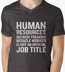 Human Resources Miracle Worker Funny HR Job Quote T-Shirt