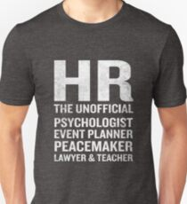 Human Resources T-Shirt Funny HR Unofficial Quote Job Joke T-Shirt