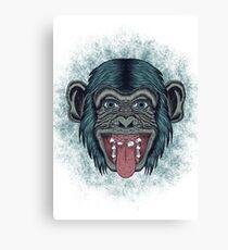 Monkey mono Canvas Print