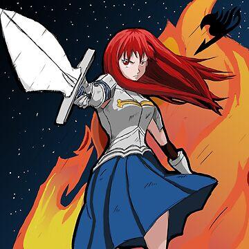 Erza Scarlet - Fairy Tale by LnS-Mangart