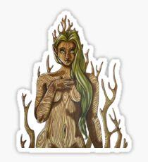 Dryad girl Sticker