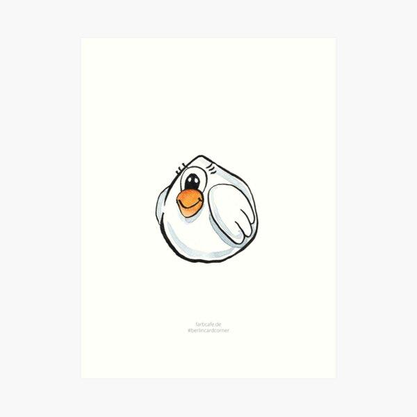 Oster Huhn Kunstdruck