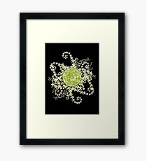 Lime and flowers garland Framed Print