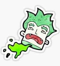 cartoon severed vampire head Sticker