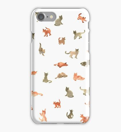 Chats Ecoline iPhone Case/Skin