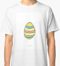 Easter egg with stripes Classic T-Shirt