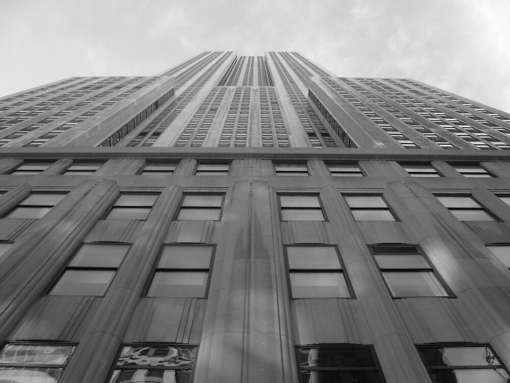 Looking Up The Empire State  by grimbomid