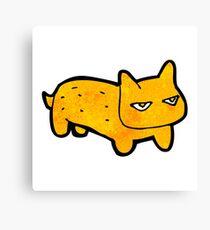 funny cartoon cat Canvas Print