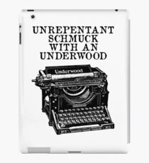 Unrepentant Schmuck With An Underwood iPad Case/Skin