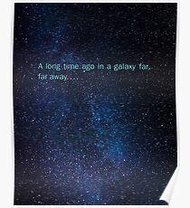 star wars in a galaxy far far away Poster