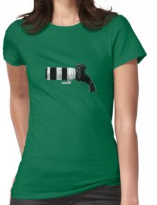 Shoot! (White Barrel) Womens Fitted T-Shirt