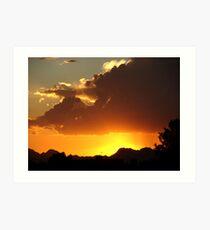 Arizona Stormy Skys Art Print