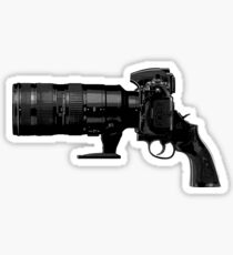 Shoot! (Black Barrel) Sticker