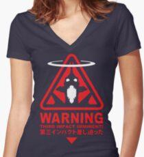 Evangelion Alert Women's Fitted V-Neck T-Shirt