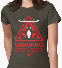 Evangelion Alert Womens Fitted T-Shirt