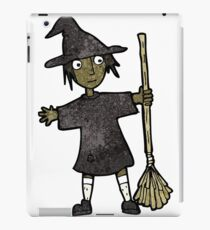 cartoon witch with broomstick iPad Case/Skin