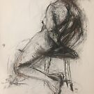 Peter seated nude by BM Ruskin