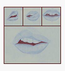 Lips (blue) Photographic Print