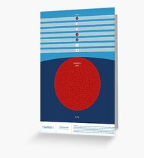 Space Infographic - Trappist-1 Greeting Card
