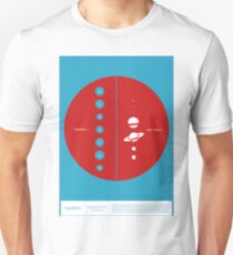 Space Infographic - Trappist-1 Unisex T-Shirt