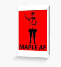 Metal Mountie Greeting Card