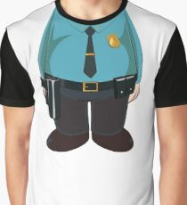 Police Officer Graphic T-Shirt