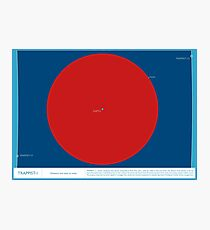 Space Infographic - Trappist-1 Photographic Print