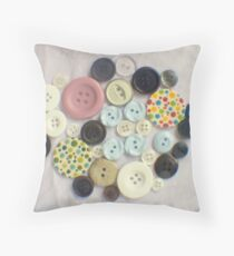Buttons - ttv photograph Throw Pillow