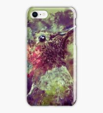 Watercolor Colibri iPhone Case/Skin