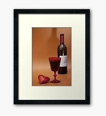 glass of red wine favorite drink Framed Print