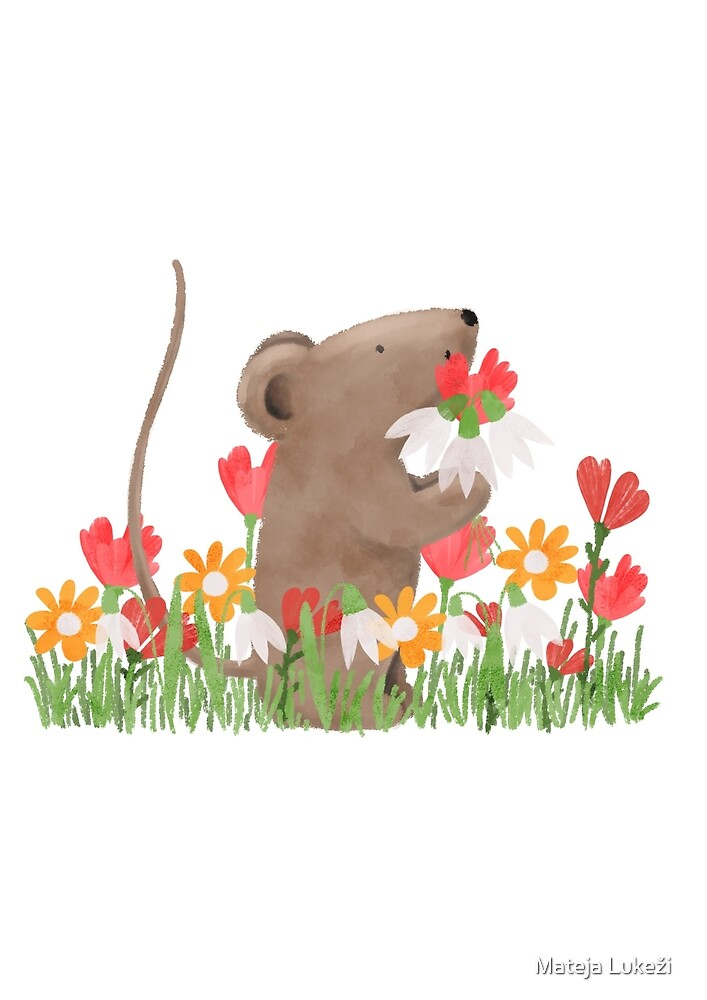 Spring Mouse by Mima Illustration