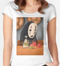 Spirited Away - Boh and No Face Knitting Women's Fitted Scoop T-Shirt