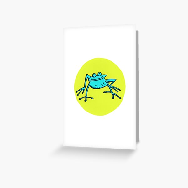 Jump! – Blue Frog Greeting Card