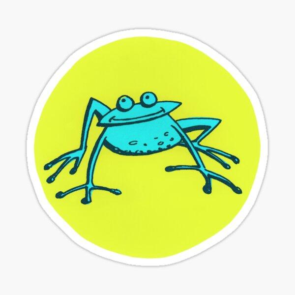 Jump! – Blue Frog Sticker